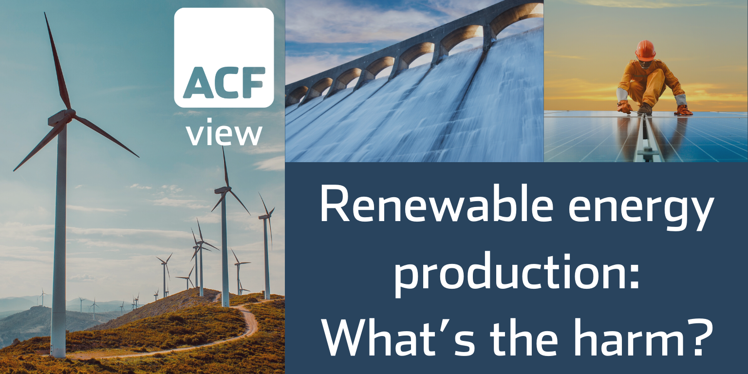 Renewable energy production: What's the harm?