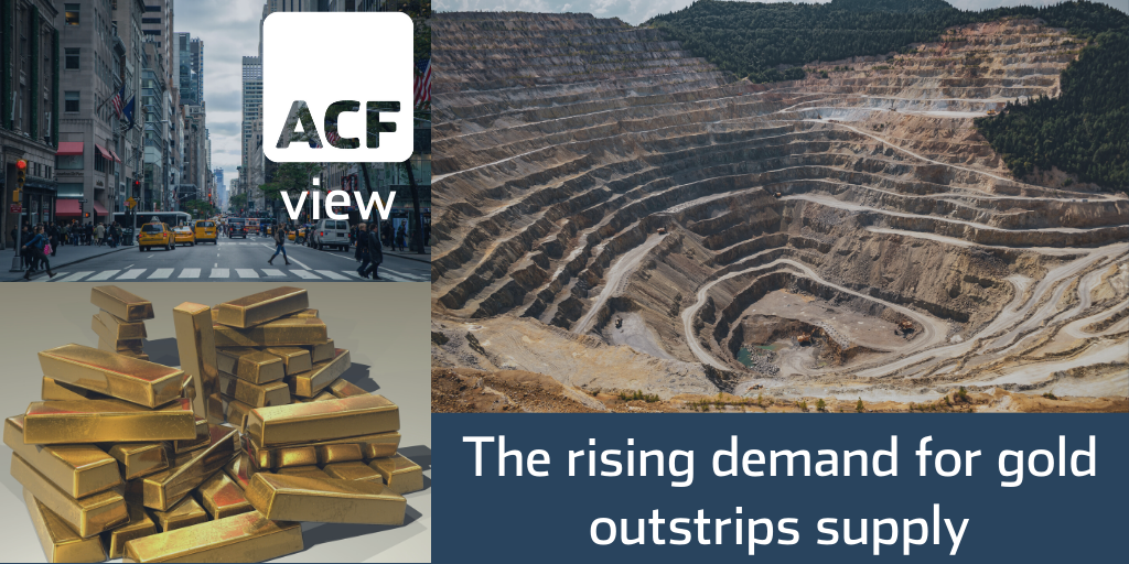The rising demand for gold outstrips supply