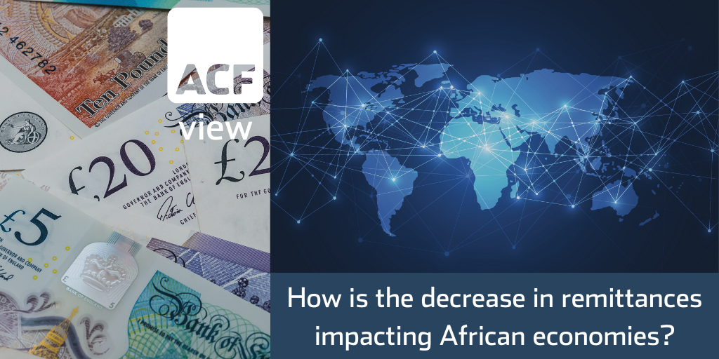 How is the decrease in remittances impacting African economies?