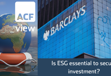 Is ESG essential to secure investment?