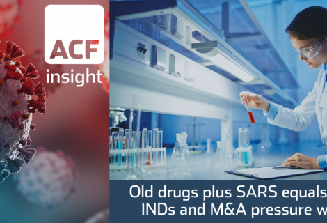 Old drugs plus SARS equals new INDs and M&A pressure wave