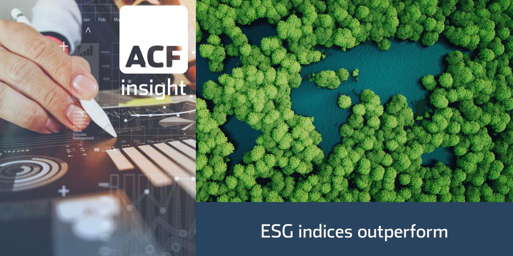 ESG Indices Outperform