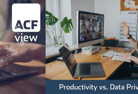 Productivity vs. Data Privacy