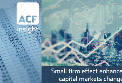 Capital Markets – significant behavioural change