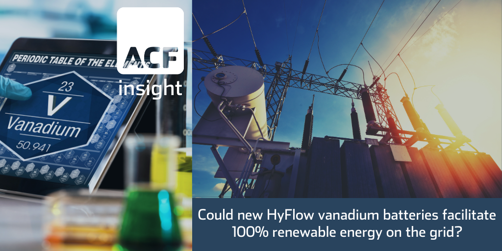 Hybrid flow battery (VFB) – can skyrocket V demand
